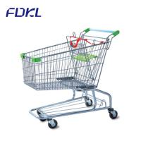 China Unfolding Steel Shopping Trolley , Wire Shopping Cart With Wheels on sale