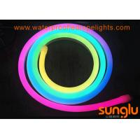 China RGB SMD 2835 100D DC 12 Volt LED Rope Lights / Bendable Neon Lights For Christmas on sale