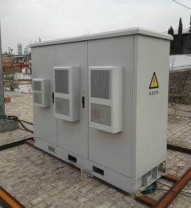 Three Compartment Fiber Optic Cabinet Galvanized Steel For Outdoor