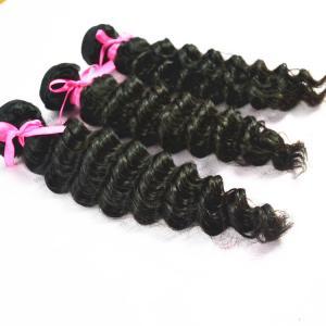onda profunda brasileira da categoria 10A 4 do Weave encaracolado brasileiro não processado brasileiro do cabelo do Virgin do cabelo pacotes de cabelo humano