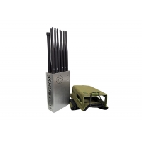 Buy cheap Omni Antennas 8.4W 25m 12 Bands GPS Signal Jammer Portable product