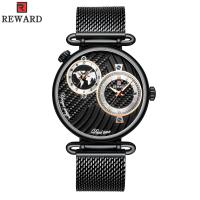 Quality Chinese Two Movement Stainless Steel Caseback Watch , Mens Waterproof Watches for sale