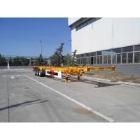 Buy cheap 3 Axle 20/40/45ft Flatbed Container Trailer High Tensile Q345B Material from wholesalers