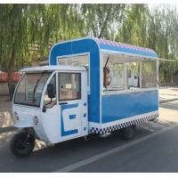 Buy cheap Mobile Food Cart Dining Car Kitchen Equipment multimedia support one spare tire and sunshade product