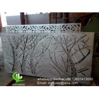 Buy cheap Tree Metal aluminum perforated panel carved panel sheet for fence decoration product
