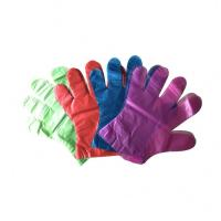 China Disposable Food Preparation Gloves , LDPE Plastic Gloves For Serving Food on sale