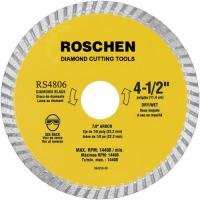Buy cheap General Purpose 9 inch Waved Turbo Diamond Cutting Blades , Yellow / Green product