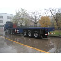 Buy cheap 40ft 3 Alxes Heavy Duty Flatbed Semi Trailers With 3mm Diamond Platform product