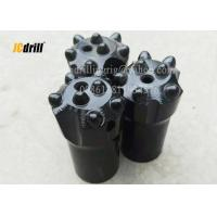 Buy cheap Tapered Rock Hammer Drill Bits , Spherical Ballistic Button Bits 7 Degree product