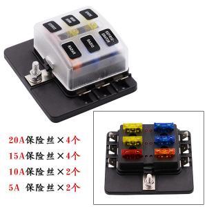 Buy cheap 6 Way Blade Fuse Box LED Indicator Fuse Holder product