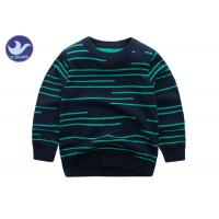 Buy cheap Irregular Stripes Boys Cardigan Sweaters Double Layer Pretty Warm Knitted Pullover from wholesalers