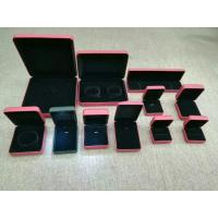 Buy cheap Luxury Gift Jewelry Plastic Box Exterior Leather Customized Size For Shopping Mall product