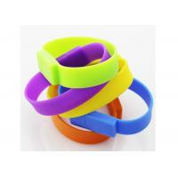 Buy cheap Portable Silicone Bracelet USB Flash Drive Colorful With Customized Logo product