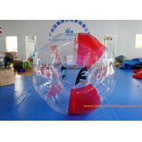 Buy cheap Soft Handle Red Inflatable Bubble Ball , Inflatable Bumper Balls For Adults from wholesalers