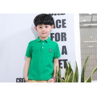 Buy cheap Thin Shirt Half Sleeve Embroidery Children's Style Clothing Boys Polo Shirts product