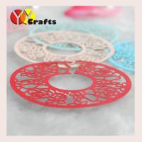 China Personalized laser cut paper wine glass claims table decoration glass bottom claim on sale