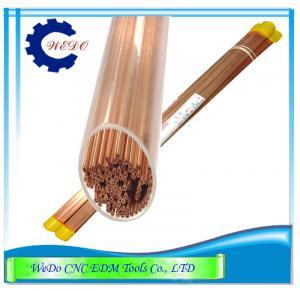 Buy cheap Tube d'Eletrode d'en cuivre du diamètre 0.6mm EDM/trous de tuyau doubles pour la machine de perceuse d'EDM product