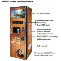 China GTS304 Instant Coffee Vending Machine,Automatic Smart Vending Machine, Customized Vending Machine , Bill & Coin Oprated on sale