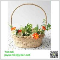 Buy cheap Wicker flower basket handle willow manufacturer customised size factory exporter product