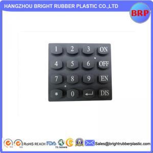 China High Quality Foodgrade Custom Blue 50 Shore A Silicone Rubber Keypad on sale