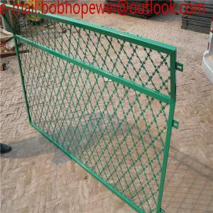 Buy cheap welded razor wire flat wrap coil / sharp razor mesh wire/welded together razor barbed wire/ welded razor barbed wire product
