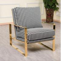 Buy cheap Modern Design Leisure Stainless Steel Swallow Gird upholstery Arm chair Sofa chair for Hotel Living room product