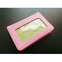 Buy cheap Women Card Holder Leather Credit Card Holder Mini Leather Wallet With Clear Window product