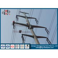 Buy cheap 10-220KV Steel Transmission Poles For Electrical Distribution Over Headline Project Q235 product