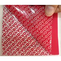 PET Film Material Self Adhesive Security Labels Red Security Tape