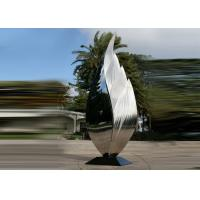 Buy cheap Park Art Decoration Polished Metal Leaf Sculpture Stainless Steel Corrosion Stability product