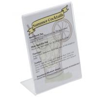 Buy cheap L - style clear and transparent Acrylic Sign Holder for Tabletops / display stand product