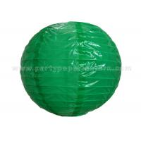 Single Color Printing Round Nylon Lantern Outdoor For Party , Home Decoration