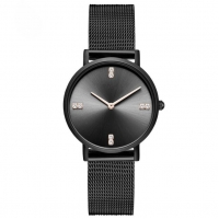 Buy cheap Quick Release Mesh Band Quartz Stainless Steel Watch PVD Black Water Resistant product