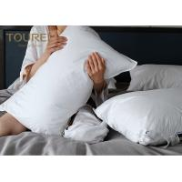 China High End CHotel Comfort Pillows White Duck / Goose Feather Pillow For Bed on sale