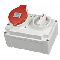 Buy cheap Rain Resistant Industrial Switches And Sockets Outlets With Red Cover from wholesalers