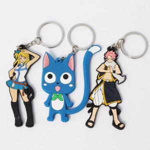 high quality cheap price custom logo soft pvc personalized fairy tail happy keychains