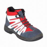Buy cheap Anti-shock Safety Shoes with Steel Toe Cap, Suede Leather, PU Dual Density Outsole and Anti-static  product