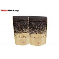 Buy cheap Flat Bottom Kraft Paper Food Bags Resealable Stand Up Aluminum Foil Lined Coated product