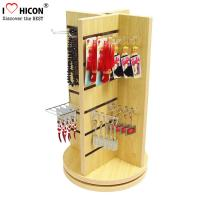 Buy cheap Countertop Slatwall Display Fixtures Commercial Gifts Retail Rotating Display Stand from wholesalers