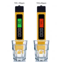Buy cheap Filter Water Reverse Qsmosis Quality Purity 0-9990 ppm,3 in 1, LCD digital tds 3 meter, Tds, Ec and Temp Meter from wholesalers