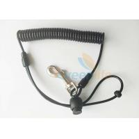 Buy cheap Anti lost Fishing Rod Wrist Lanyard Black TPU Spiral Coil With J Swivel Snap Hook product