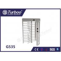 CE Approved Full Height Turnstile Revolving Door 30 Persons / Min Transit Speed