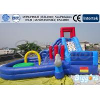 Buy cheap Backyard Inflatable Water Slide Pool Fun Playground Games 6 x 6 x 3.5M product