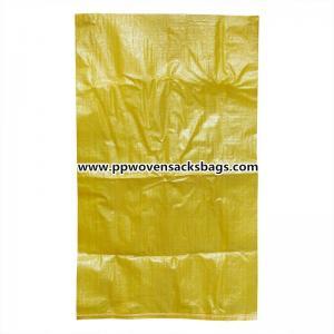 Buy cheap パッキングのセメント、石炭、モルトのためのスリップ防止黄色いポリプロピレンのバージン PP によって編まれる袋袋 product