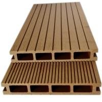 Wood plastic composite decking above ground pool solid for Plastic composite decking