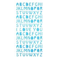 Buy cheap Blue Letter Glitter Stickers 3D Foam Education Stickers 1.8MM Thick product