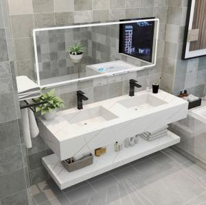 Buy cheap Stain Resistant Quartz Stone Bathroom Vanity Tops product