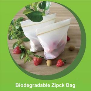 Buy cheap Bolso biodegradable respetuoso del medio ambiente de la cremallera de maíz de from wholesalers