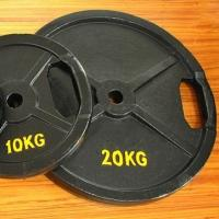 China 20 KGS Iron Weight Plates Cast Iron Plate Material With Double Grip Handles on sale