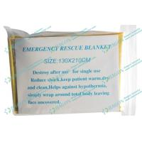 China Golden First Aid Products / Aluminum Foil Mylar Emergency Blanket on sale